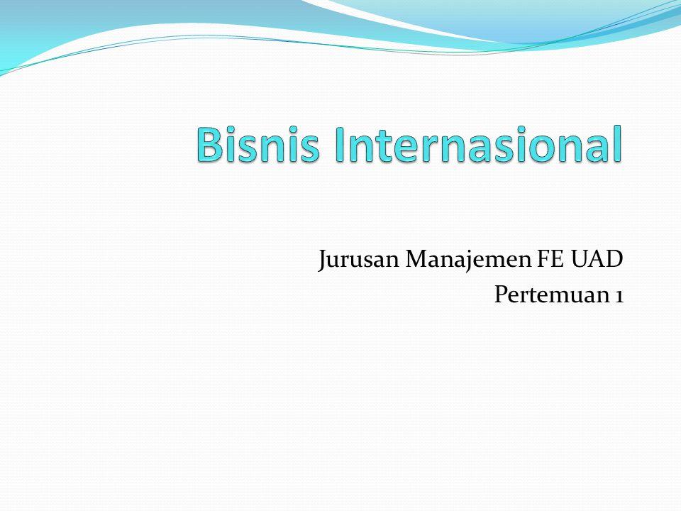 Jurusan Manajemen FE UAD Pertemuan 1