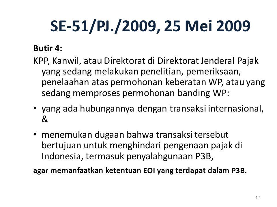 SE-51/PJ./2009, 25 Mei 2009 Butir 4: