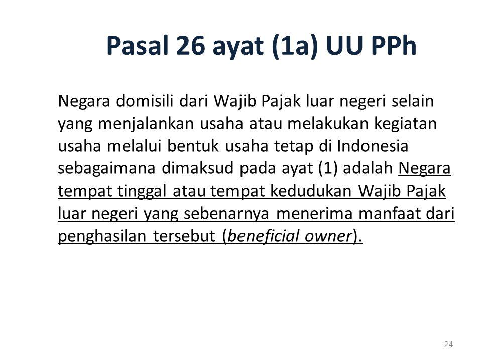 Pasal 26 ayat (1a) UU PPh