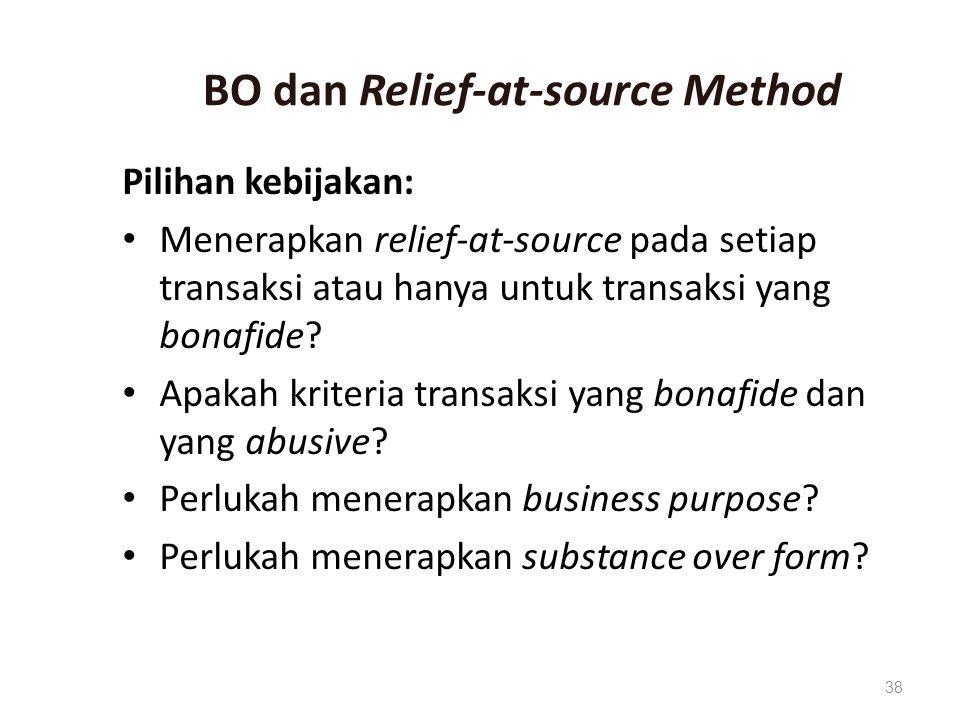 BO dan Relief-at-source Method