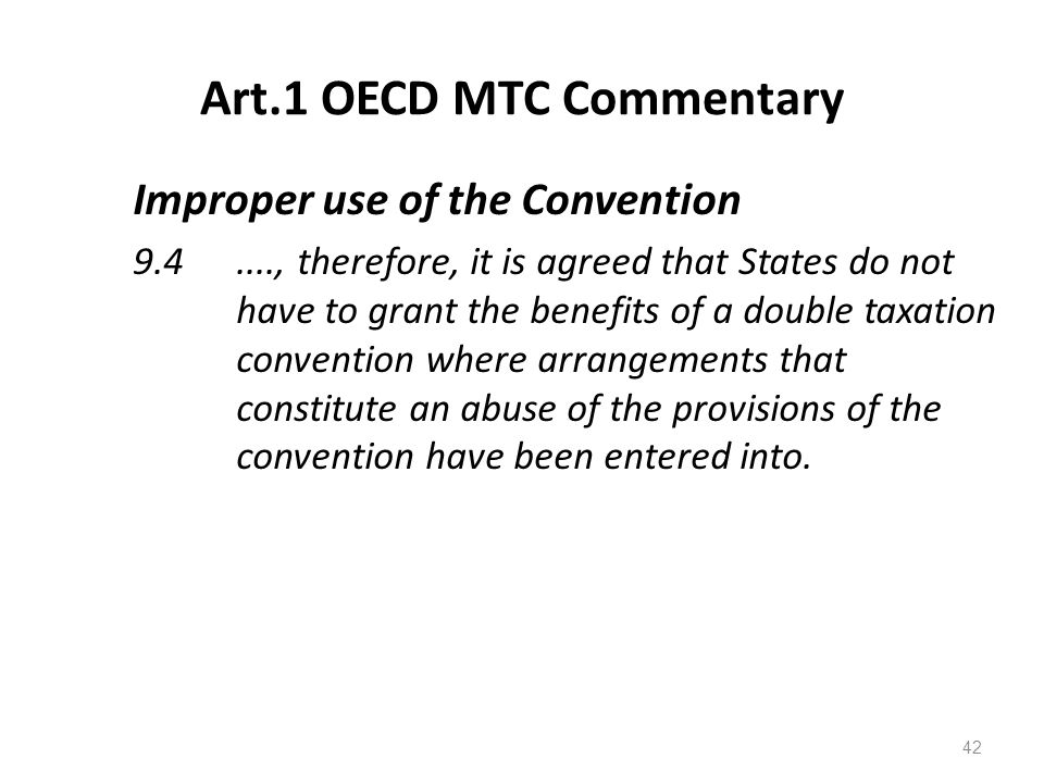 Art.1 OECD MTC Commentary