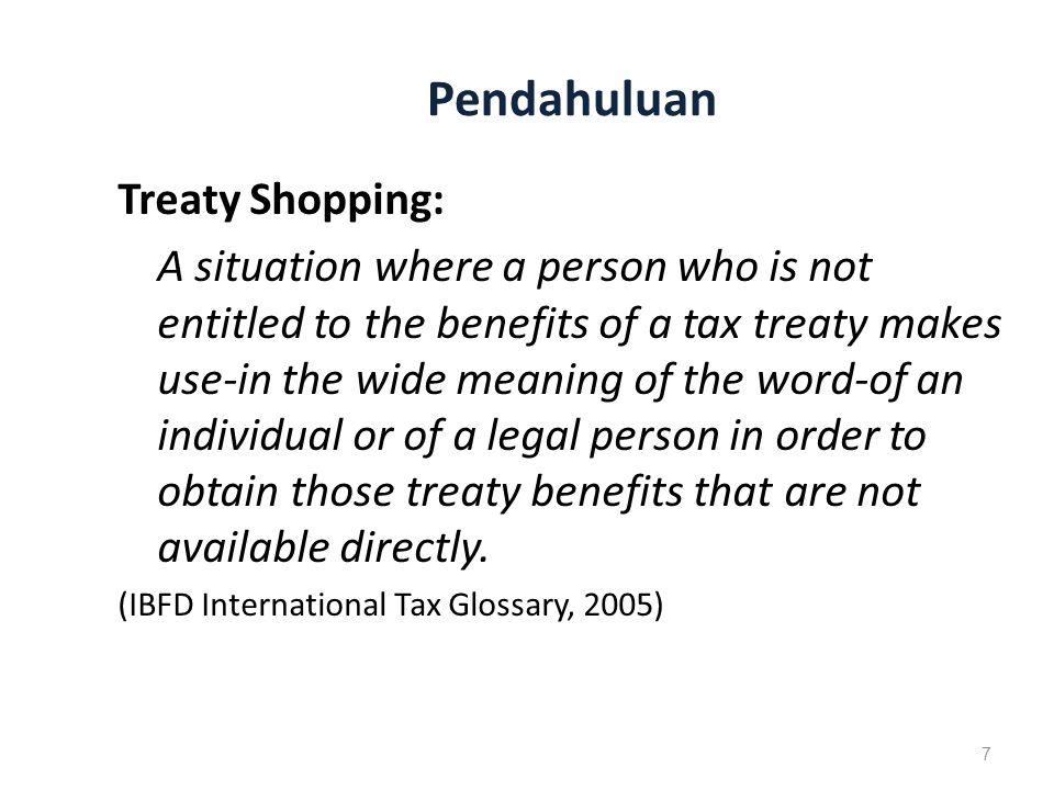 Pendahuluan Treaty Shopping: