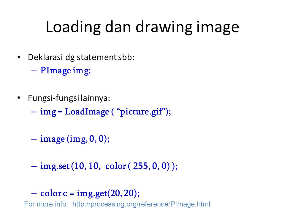 Loading dan drawing image