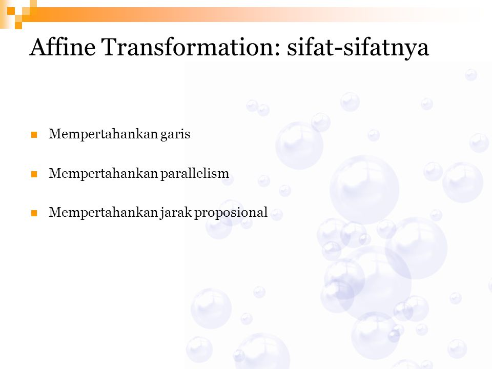 Affine Transformation: sifat-sifatnya