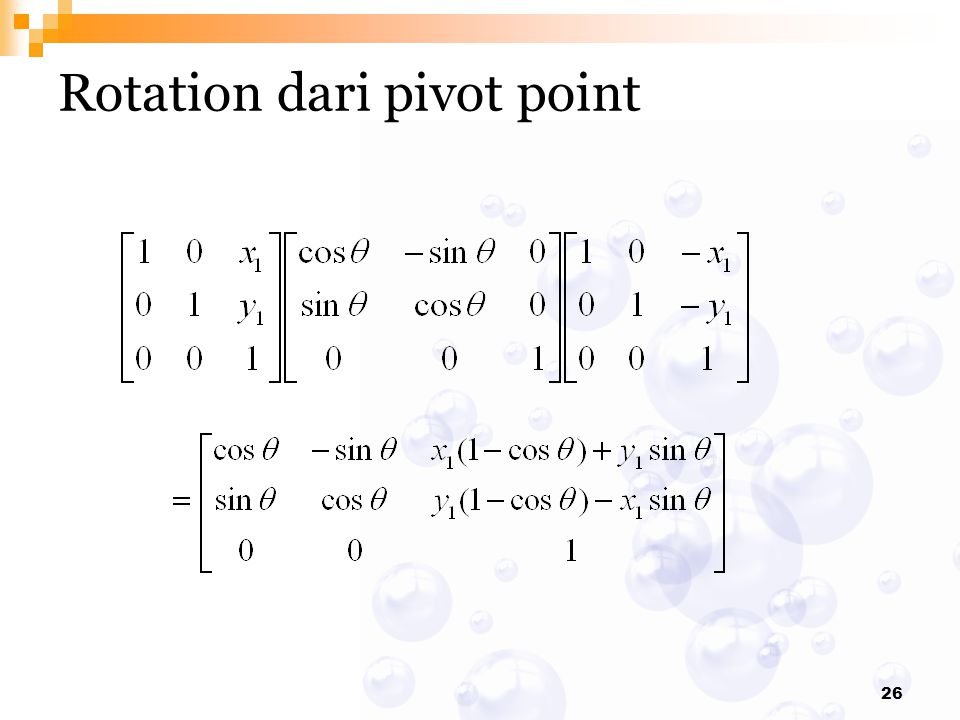 Rotation dari pivot point