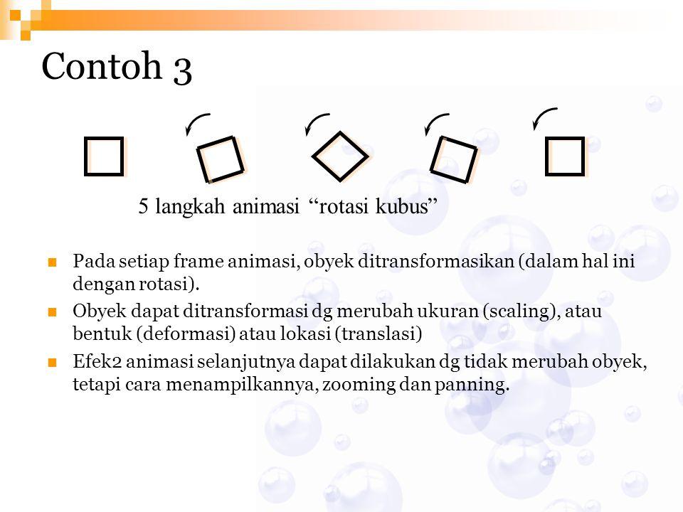 Contoh 3 5 langkah animasi rotasi kubus