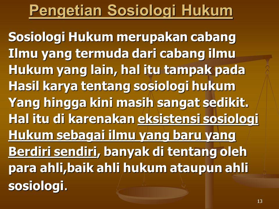 Pengetian Sosiologi Hukum