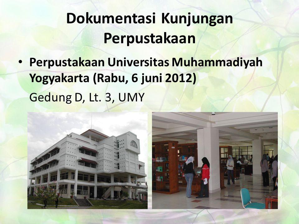 Dokumentasi Kunjungan Perpustakaan