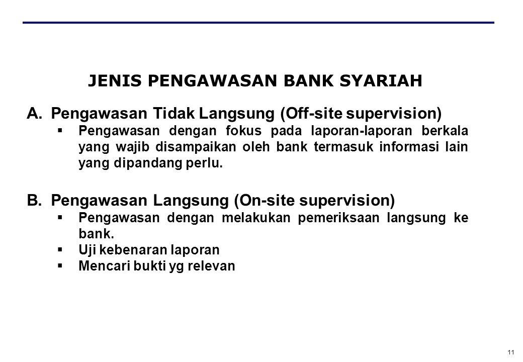 JENIS PENGAWASAN BANK SYARIAH