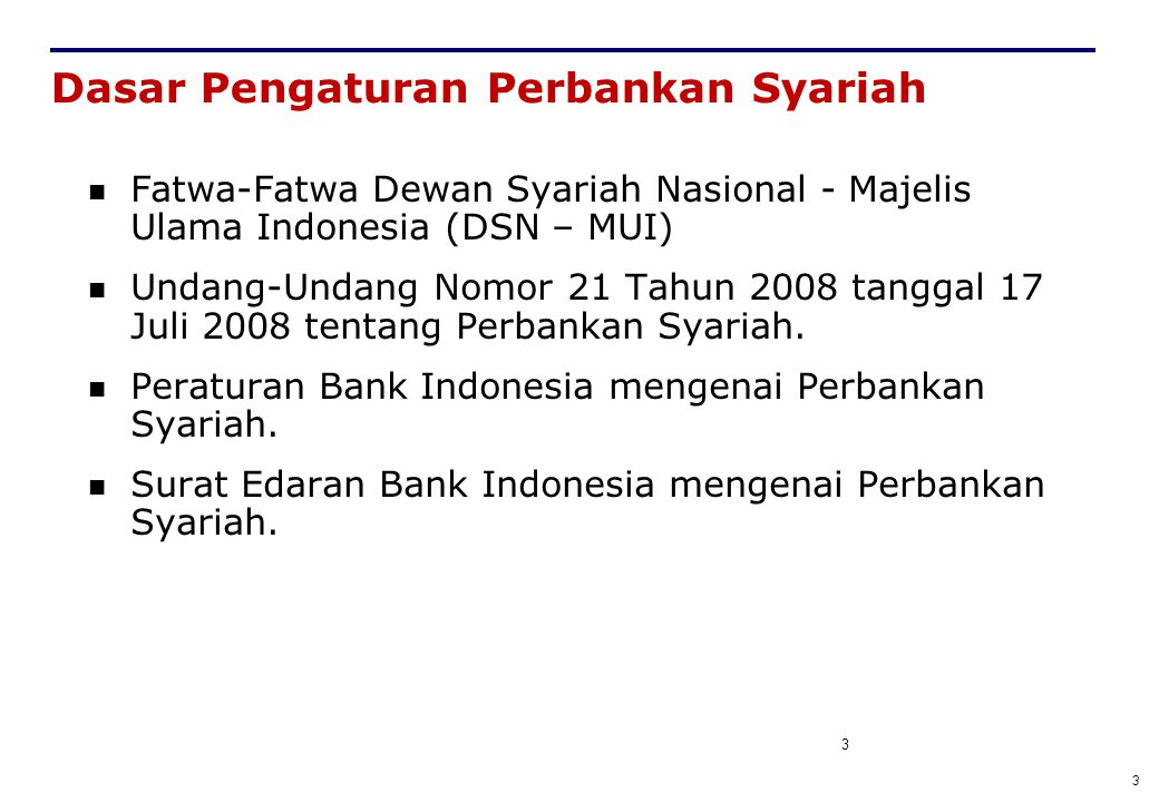 Dasar Pengaturan Perbankan Syariah