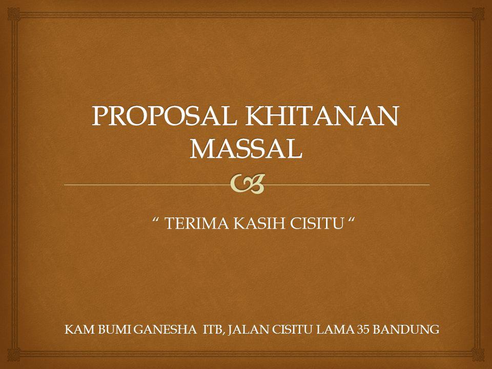 PROPOSAL KHITANAN MASSAL