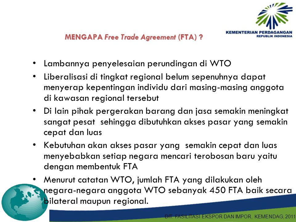 MENGAPA Free Trade Agreement (FTA)