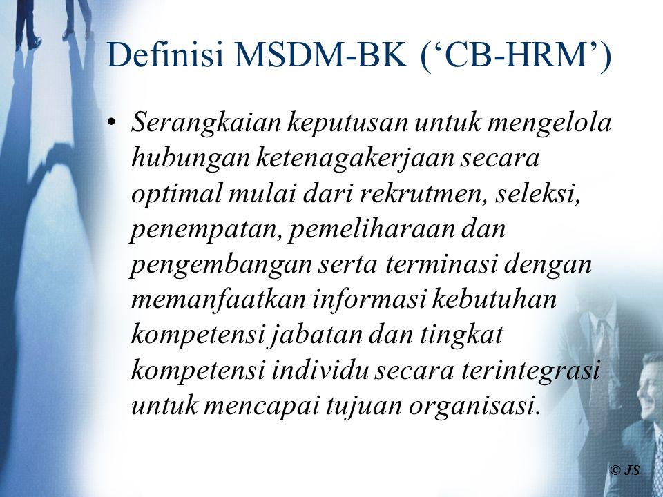 Definisi MSDM-BK ('CB-HRM')