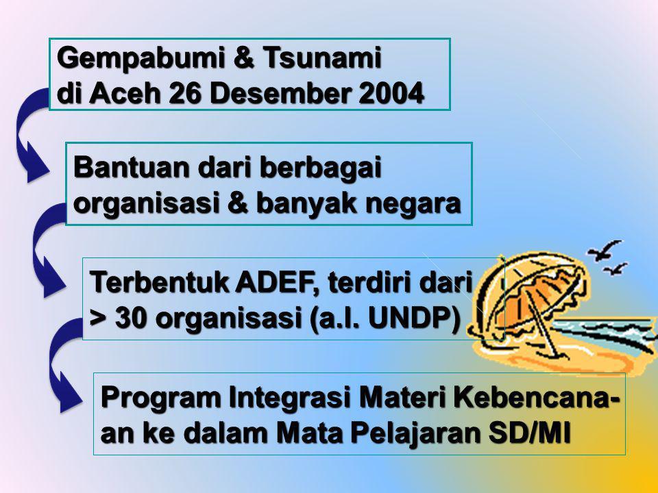 Gempabumi & Tsunami di Aceh 26 Desember 2004. Bantuan dari berbagai organisasi & banyak negara.