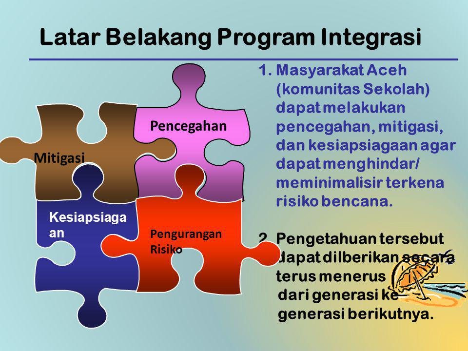 Latar Belakang Program Integrasi