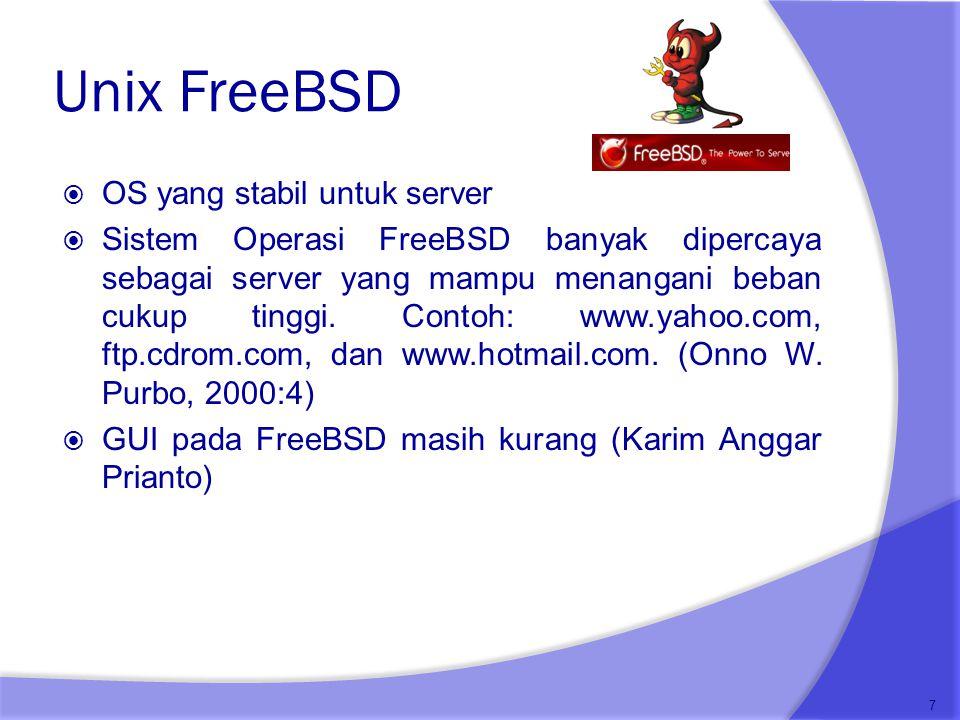 Unix FreeBSD OS yang stabil untuk server