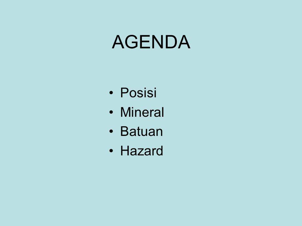 AGENDA Posisi Mineral Batuan Hazard