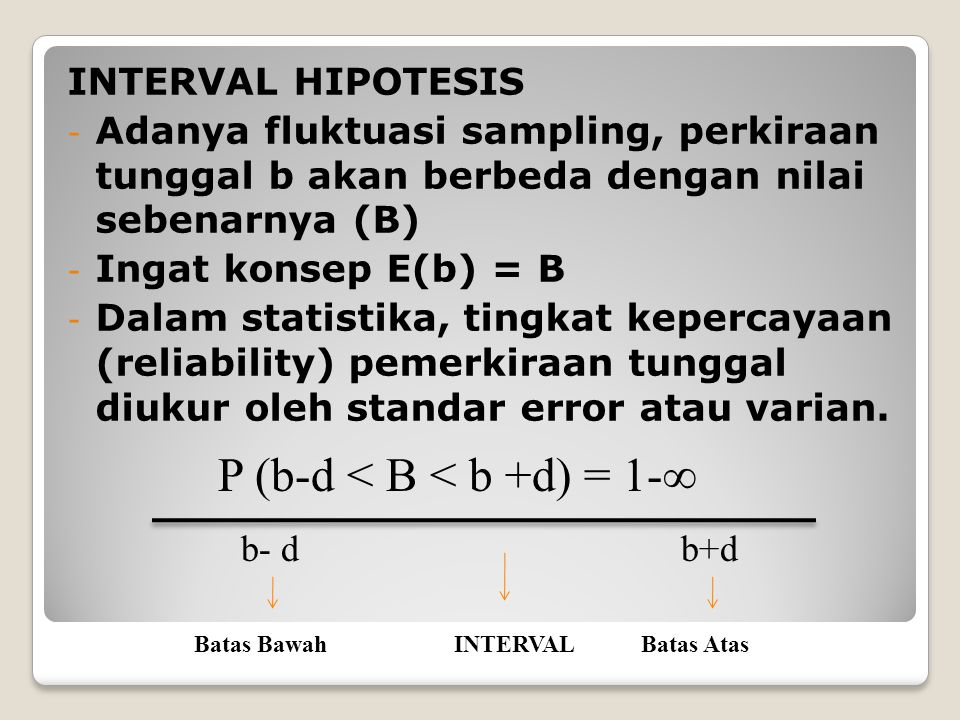 P (b-d < B < b +d) = 1-∞