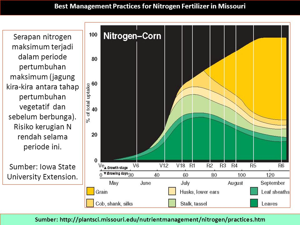 Best Management Practices for Nitrogen Fertilizer in Missouri