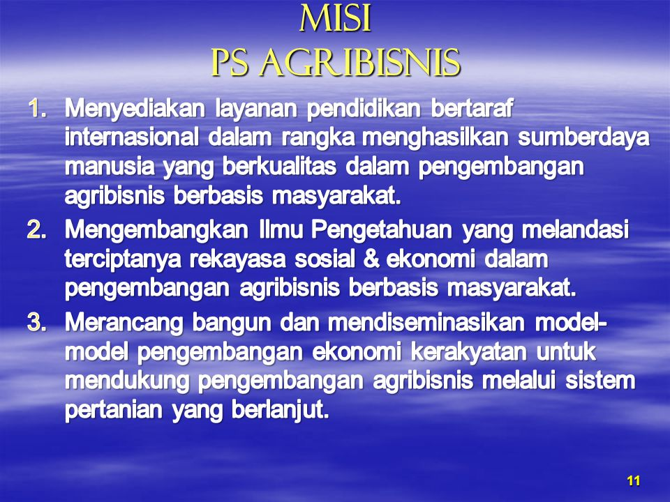 MISI PS AGRIBISNIS