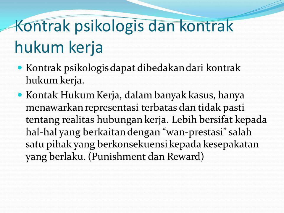 Kontrak psikologis dan kontrak hukum kerja