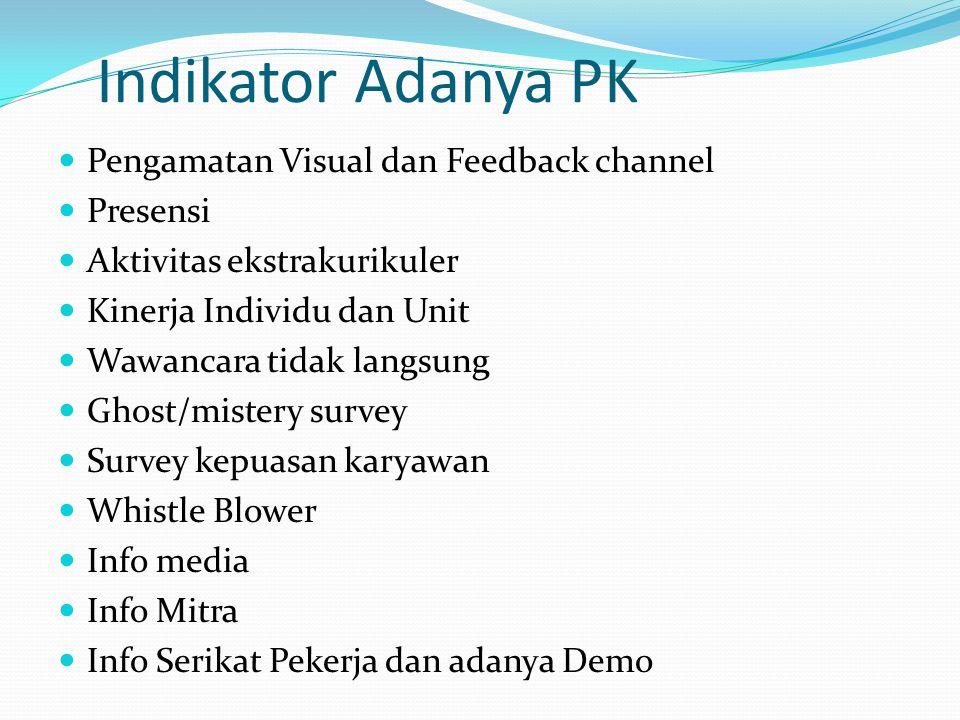 Indikator Adanya PK Pengamatan Visual dan Feedback channel Presensi