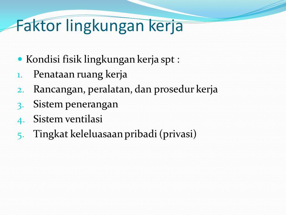 Faktor lingkungan kerja