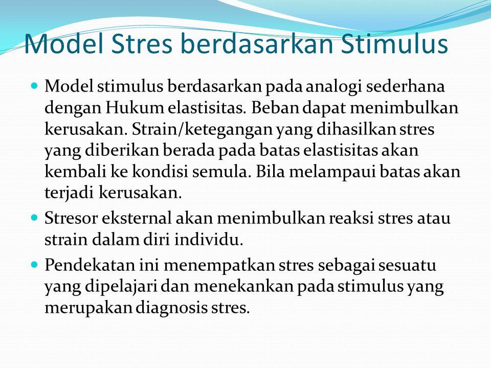 Model Stres berdasarkan Stimulus