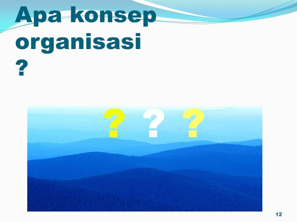 Apa konsep organisasi