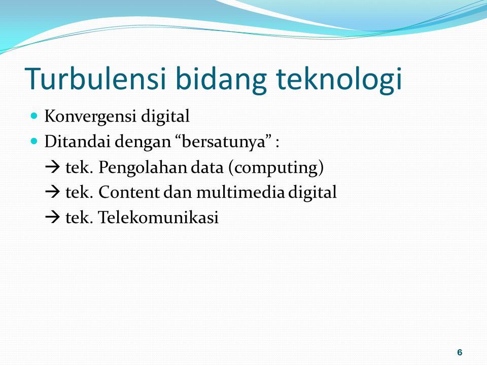 Turbulensi bidang teknologi