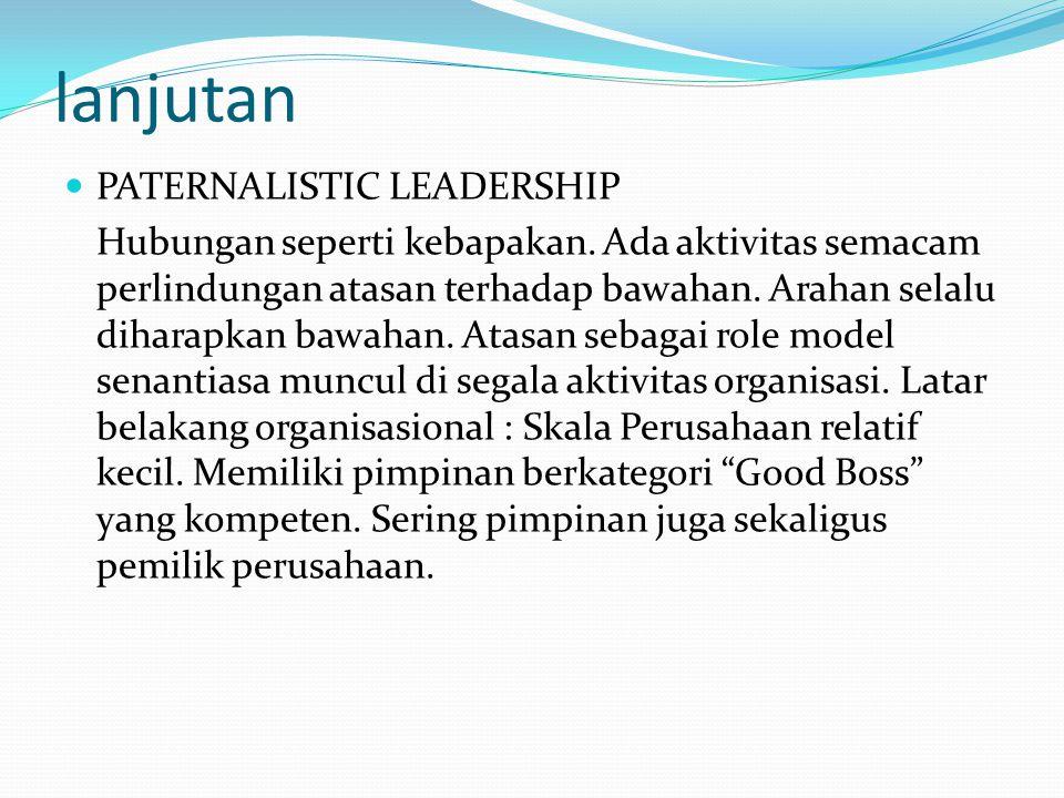 lanjutan PATERNALISTIC LEADERSHIP