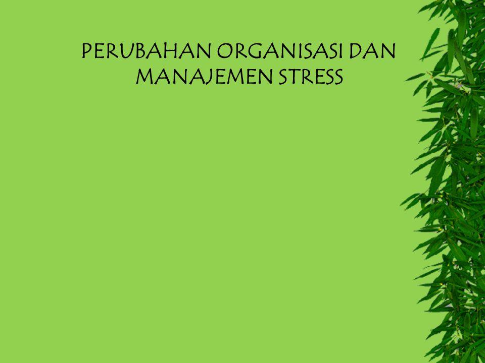 PERUBAHAN ORGANISASI DAN MANAJEMEN STRESS