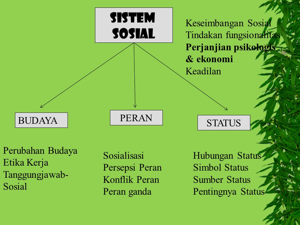 SISTEM SOSIAL Keseimbangan Sosial Tindakan fungsionalitas