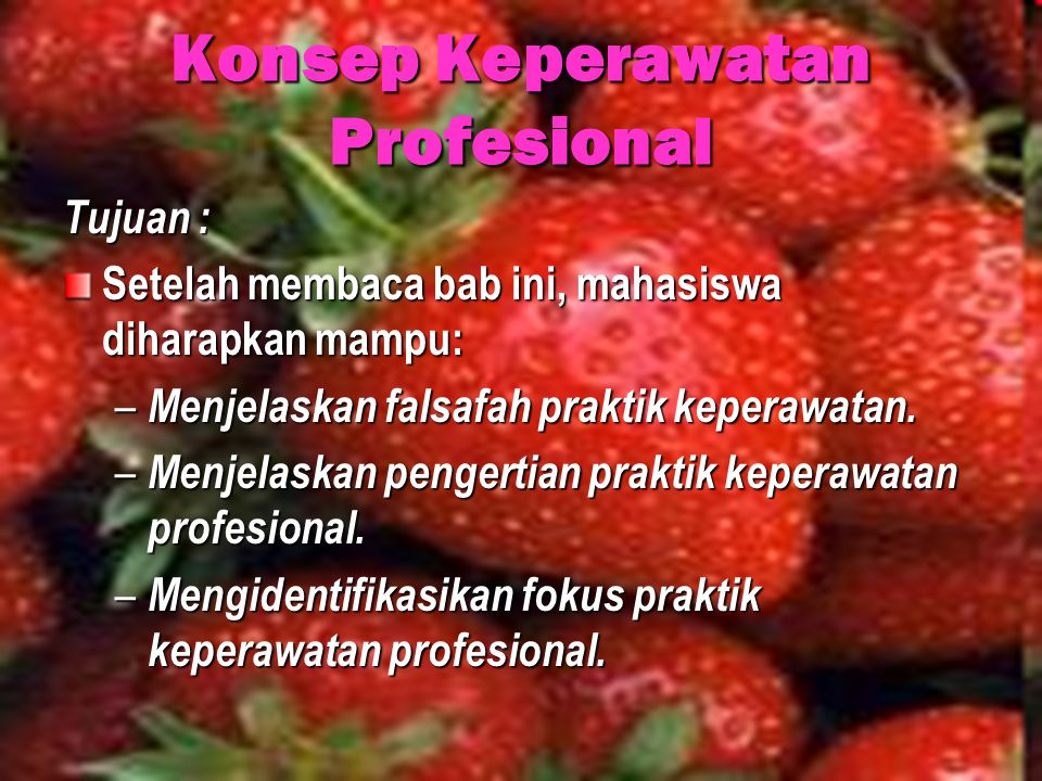 Konsep Keperawatan Profesional