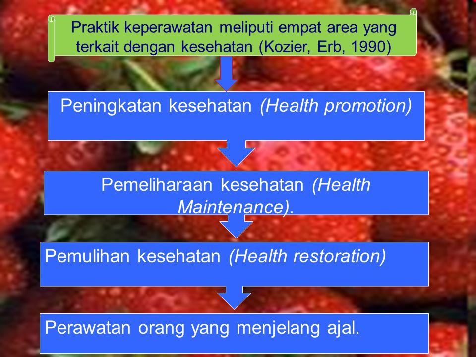 Peningkatan kesehatan (Health promotion)