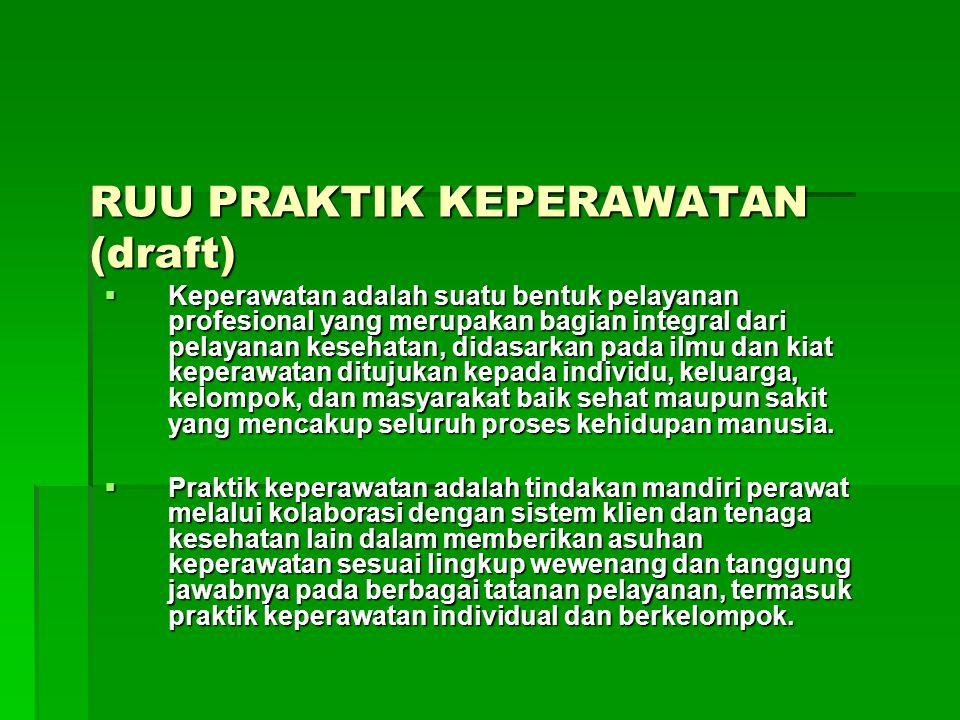 RUU PRAKTIK KEPERAWATAN (draft)