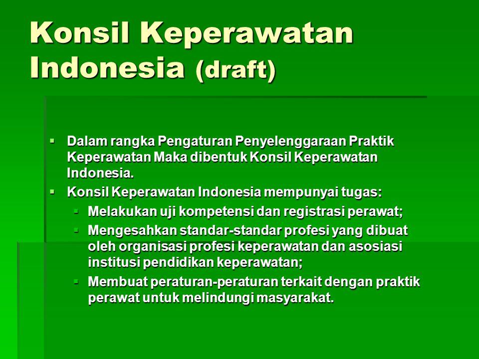 Konsil Keperawatan Indonesia (draft)