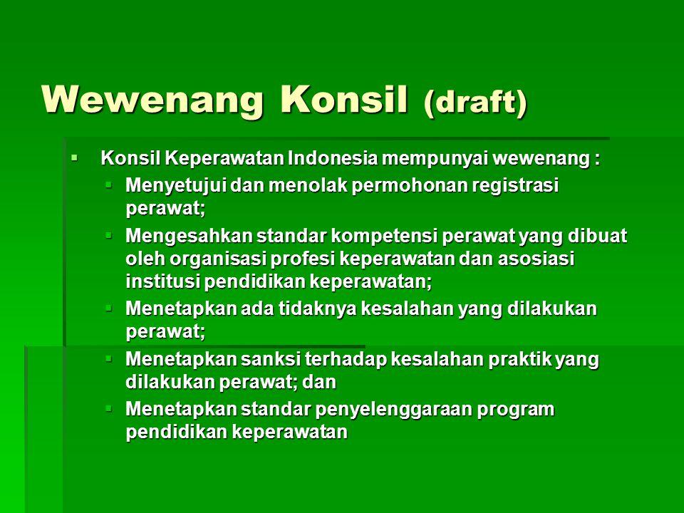 Wewenang Konsil (draft)