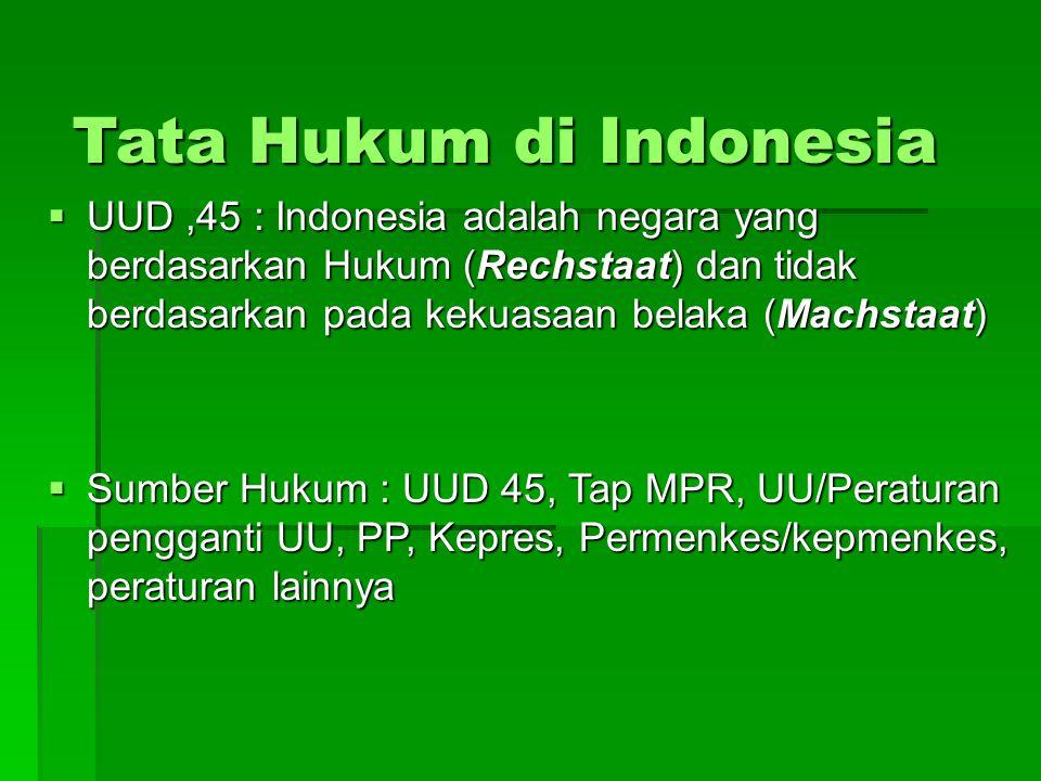 Tata Hukum di Indonesia