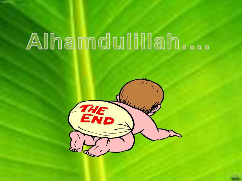 Alhamdulillah….
