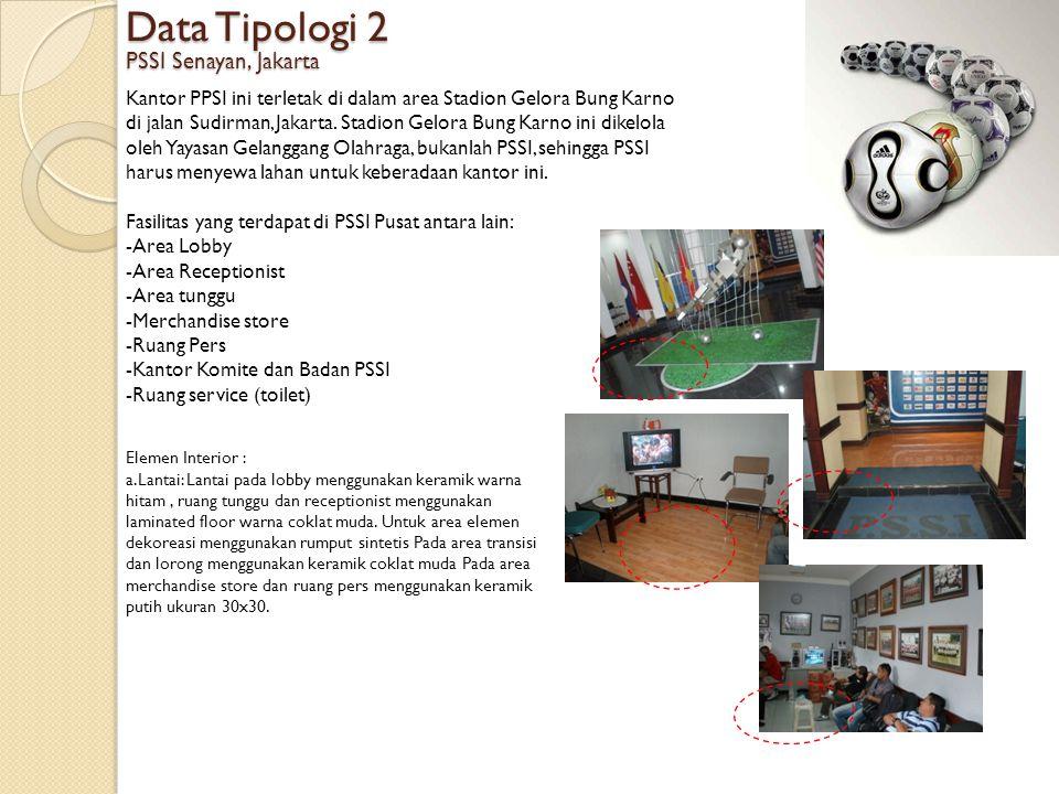 Data Tipologi 2 PSSI Senayan, Jakarta