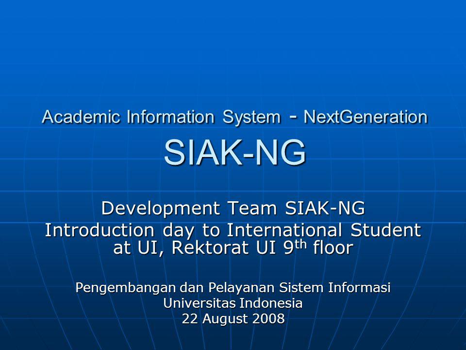 Academic Information System - NextGeneration SIAK-NG