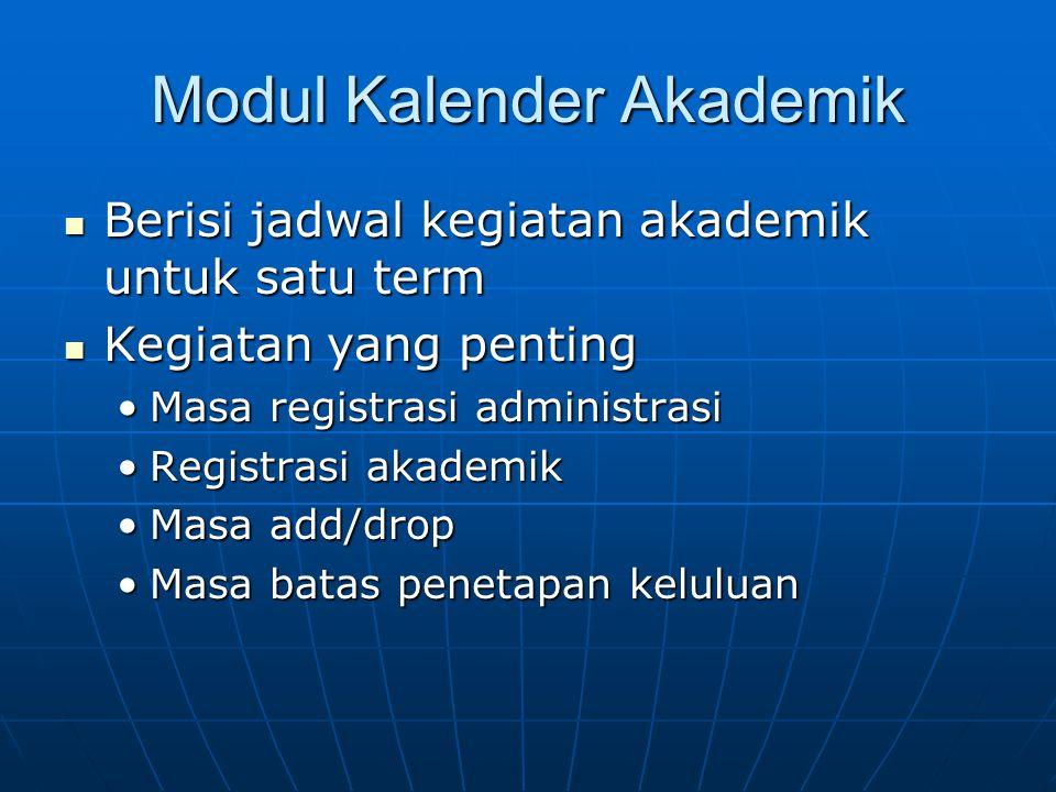 Modul Kalender Akademik