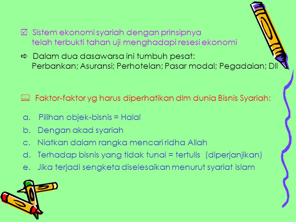  Sistem ekonomi syariah dengan prinsipnya
