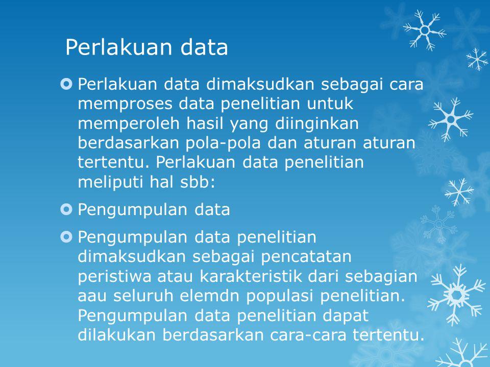 Perlakuan data