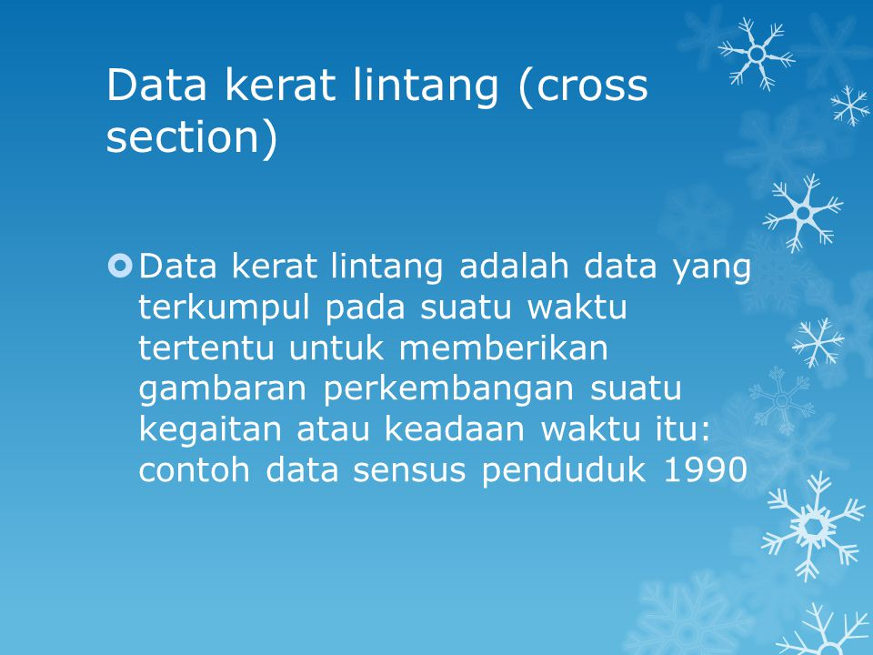 Data kerat lintang (cross section)