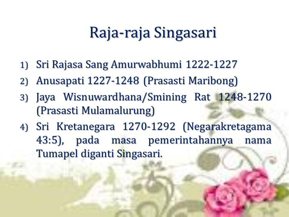 Raja-raja Singasari Sri Rajasa Sang Amurwabhumi 1222-1227