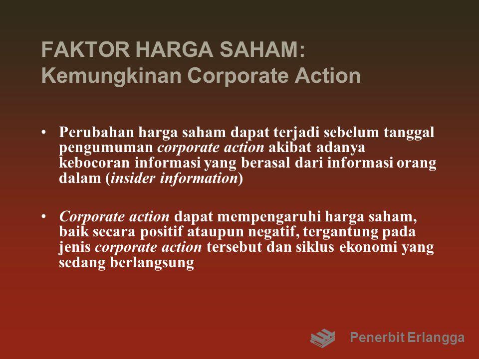 FAKTOR HARGA SAHAM: Kemungkinan Corporate Action