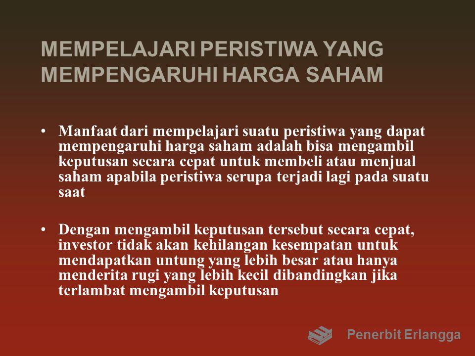 MEMPELAJARI PERISTIWA YANG MEMPENGARUHI HARGA SAHAM