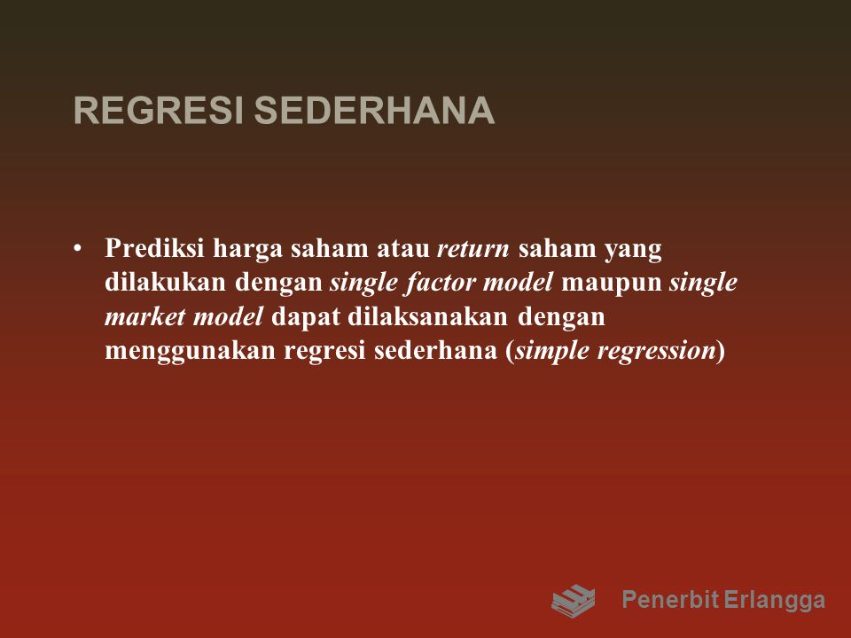 REGRESI SEDERHANA
